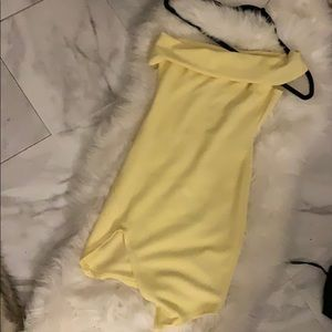 Yellow off the shoulder pretty little thing dress